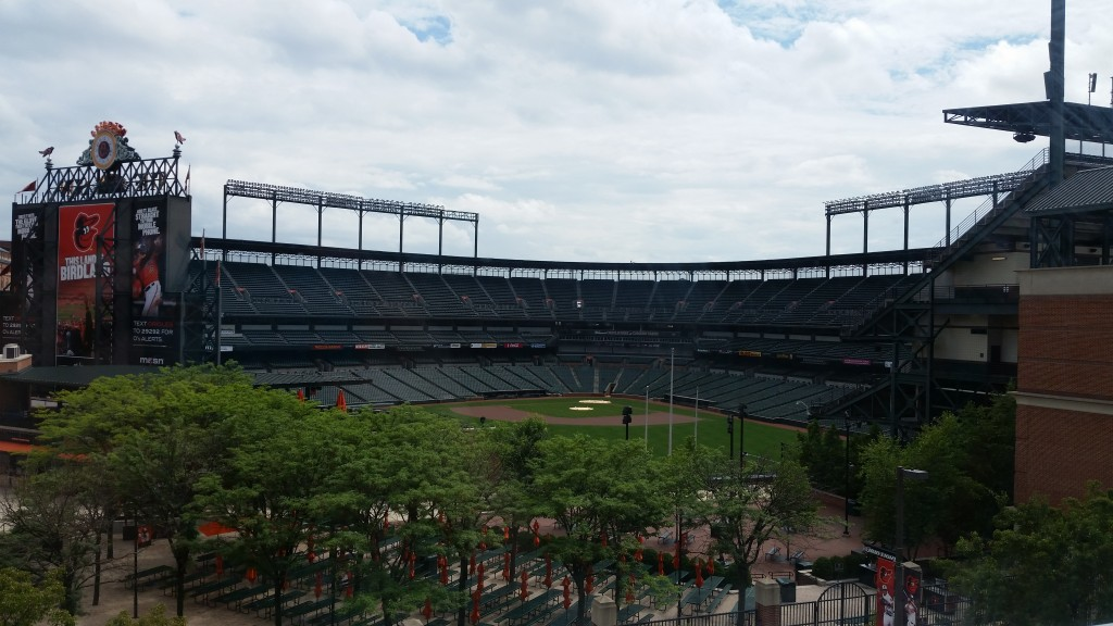Oriole Park Camden Yards as seen from Hilton
