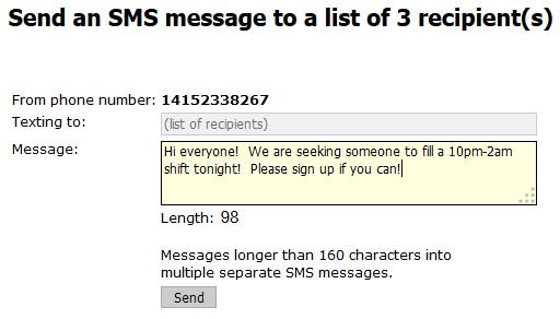 6 Send SMS
