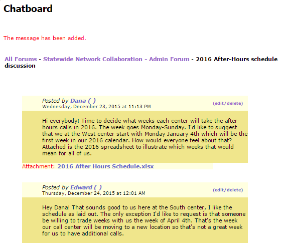 Collaborative Admin Only Forum posts