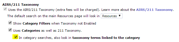 Enable linking taxonomy terms to custom categories