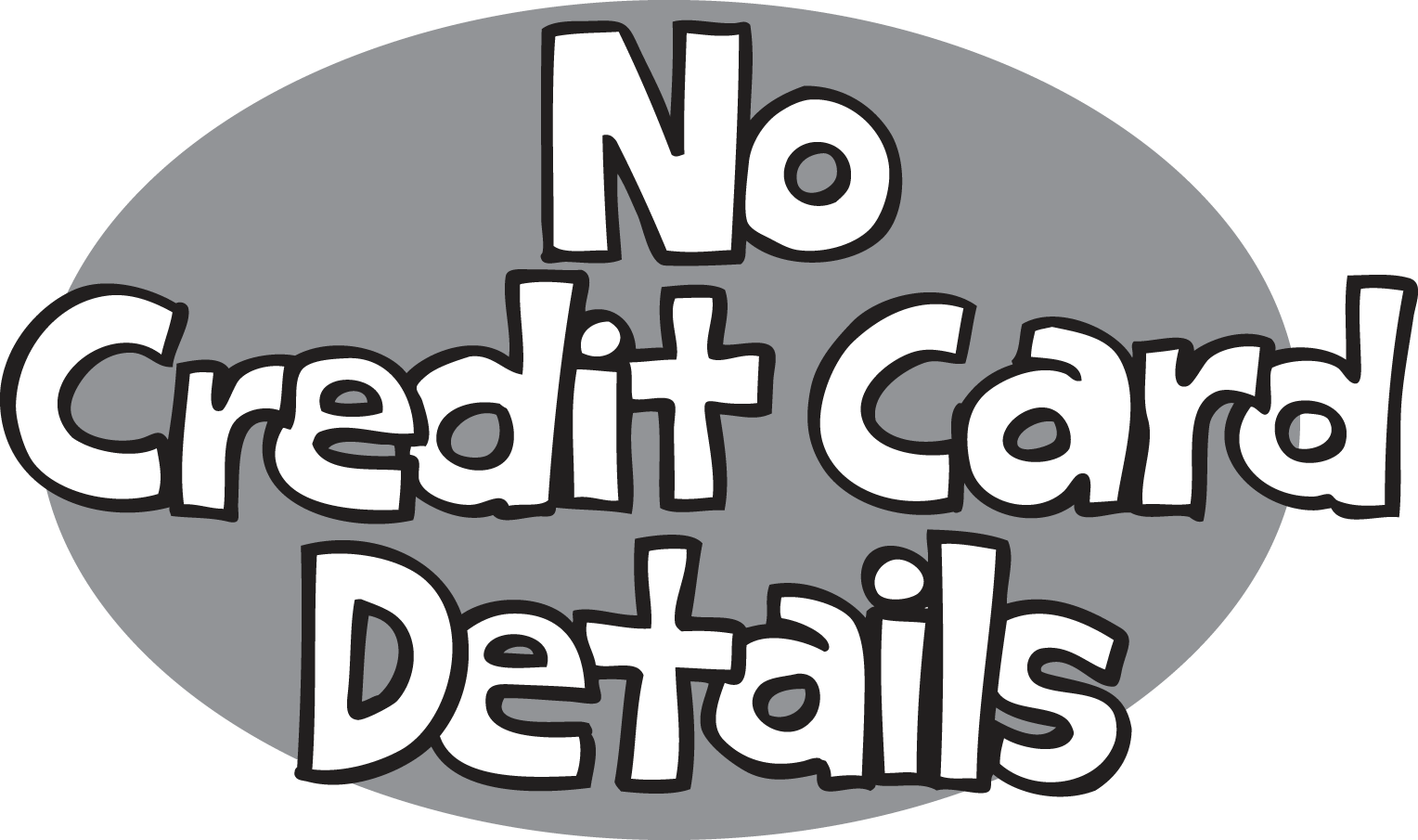 No credit card details w gray