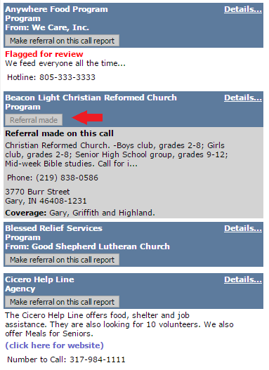 Referral made