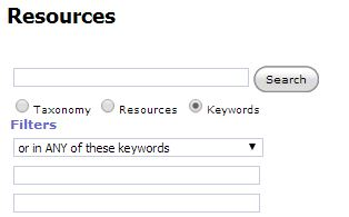 Resource Search Bar