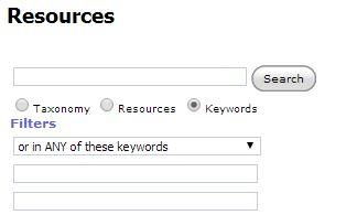 Resource Search Bar