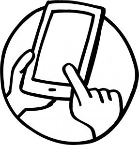Smart Phone  with one finger