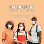high school students wearing masks