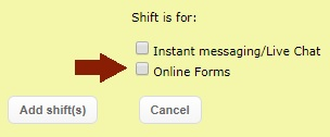 Add shift for Public Web Form