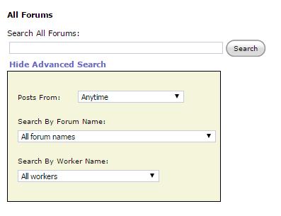 Chatboard search advanced