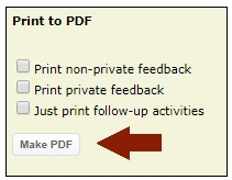 iCarol make PDF of Contact Record