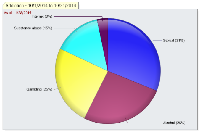 iCarol Statistics Demographics Pie Chart fields