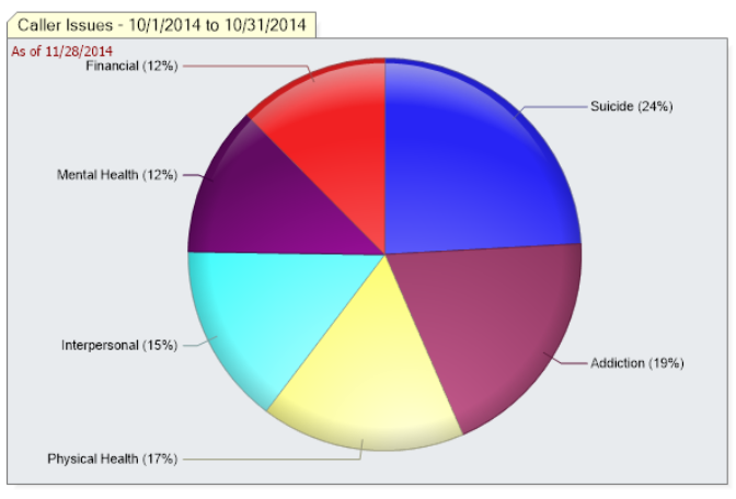 iCarol Statistics Demographics pie chart sub category