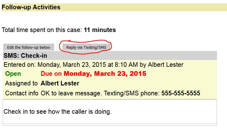 Reply via SMS