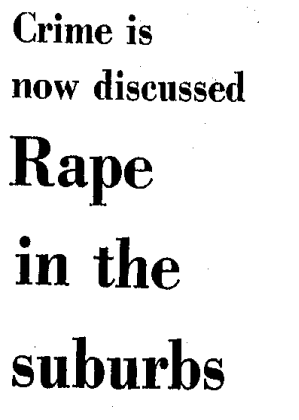 1977 headline on rape