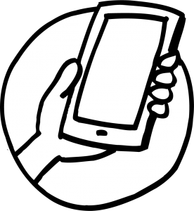Smart Phone being held