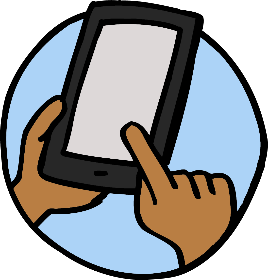 Smart-Phone-with-one-finger