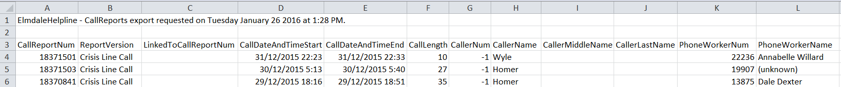 call reports file detail