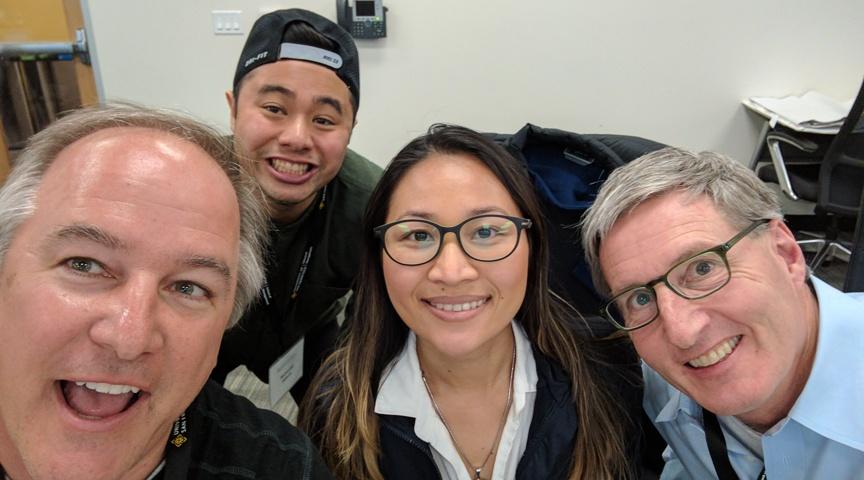 hackathon selfie